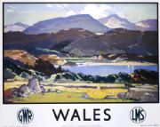 Welsh Railway Travel Poster Art Print, Wales by LMS and GWR